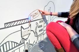Dortmunder U, moving people ausstellung, detail cat
