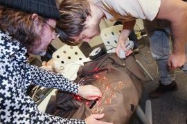 Dortmunder U, moving people ausstellung, making the led jackets