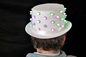 LED Hat Stefan back