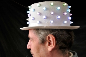 LED Hat Stefan side