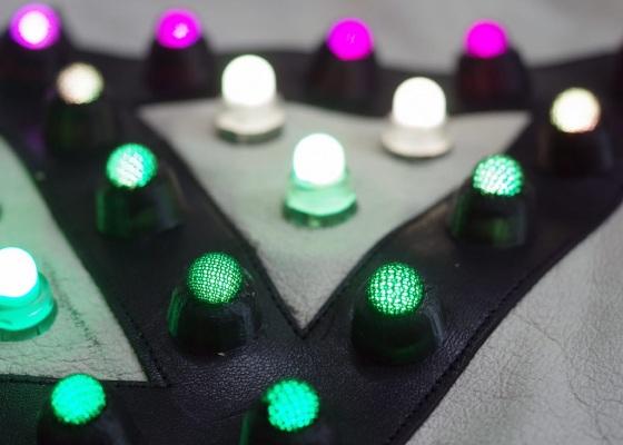 LED jacket david 3d printable caps lights on