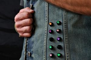 LED jacket Seba front detail
