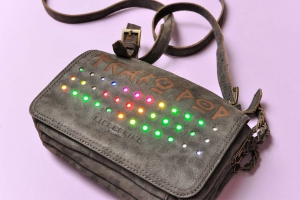LED leather bag platoon kunsthalle front colours