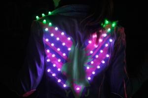 LED Parrot Jacket by Yuki