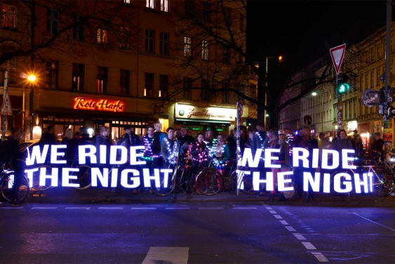 Night Ride Trafo Stick Pixel Painting We ride the night