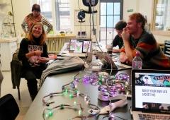 LED Jacket workshop Fab Lab Berlin working