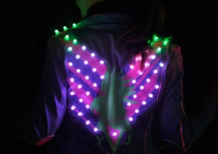 LED Jacket workshop Fab Lab Berlin yuki glowing